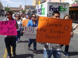 March for immigration reform and accountability in border enforcement in El Paso on April 10, 2013.
